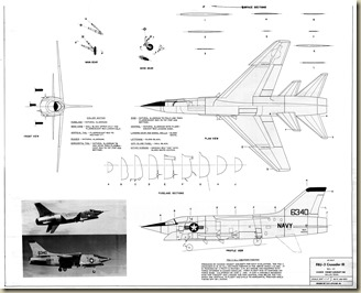 Chance Vought F8U-3 Crusader III 3V with Cross Section1a