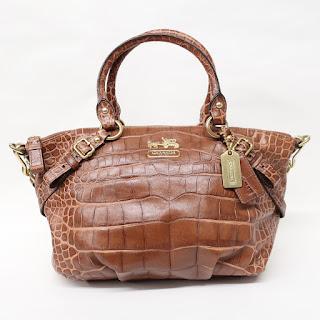 Coach Embossed Leather Shoulder Bag