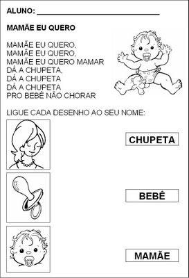 Pedag giccos atividade m es for Jardineira bebe 1 ano