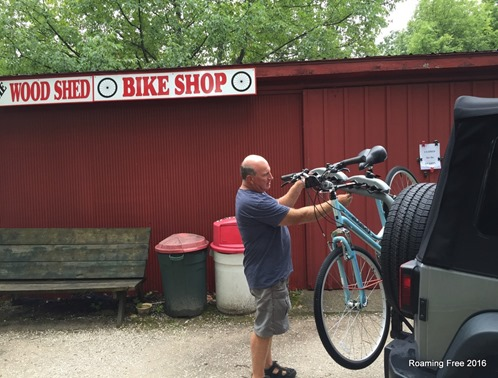Getting my bike fixed