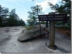 Stone Mountain Summit 2305 feet