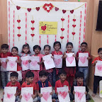 Valentine's Day Celebrated by Nursery Evening Section at Witty World, Chikoowadi (2017-2018)