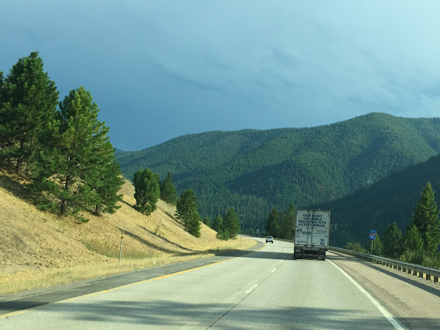 Just east outside St Regis, Montana on Interstate 90 following the Clark River to Superior.August 11, 2015.