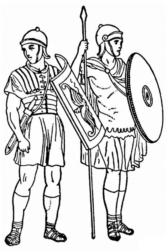 Soldados romanos para colorear