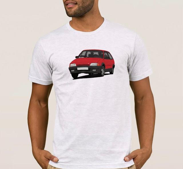 Red Citroën AX GT t-shirts
