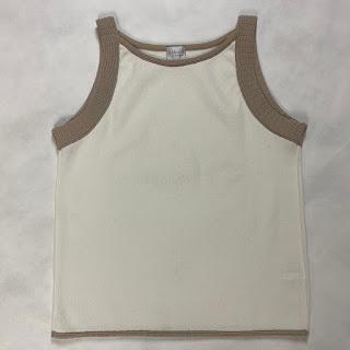 Armani Collezioni Knit Beige &  White top