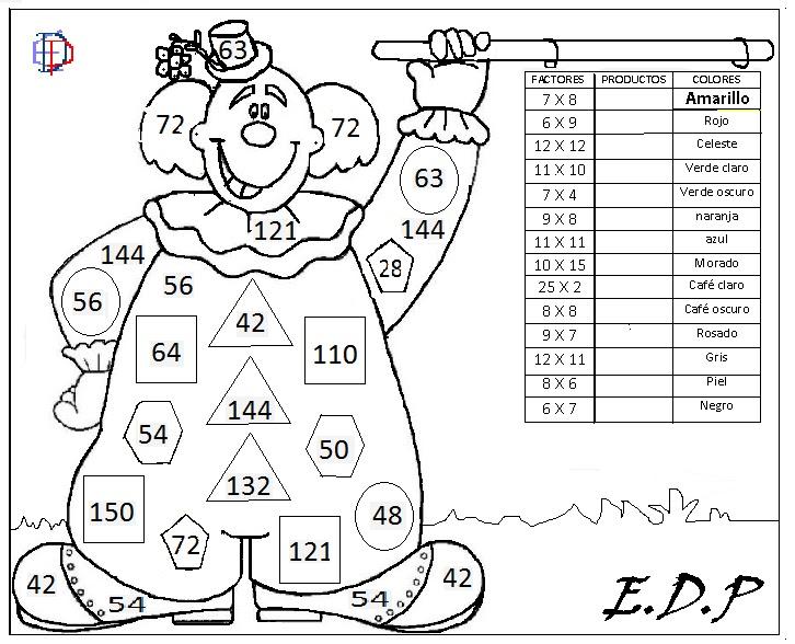 Matemática Entretenida Edp Láminas Para Pintar
