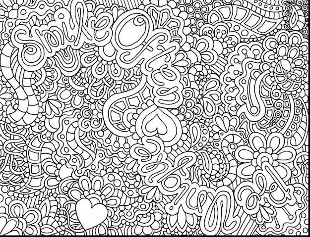 Remarkable Difficult Adult Coloring Pages With Color Pages For Teens