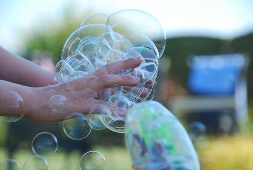 Zeepbellen verzamelen