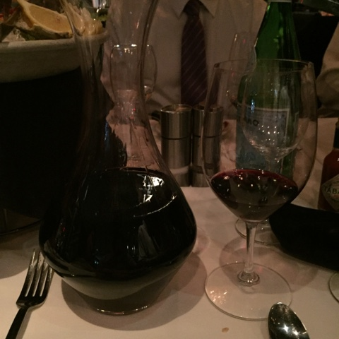 A magnum of Joseph Phelps Cabernet Sauvignon in a decanter