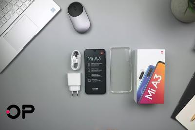 محتويات صندوق هاتف Xiaomi Mi A3