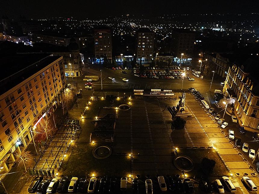 vedere etajul 10 hotel unirea iasi noaptea