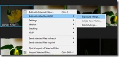 Selecting files to merge