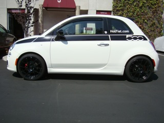 Fiat 500 lowered by HotFIAT