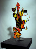 Emmit and the light 18 in x 8 in painted steel 2009.jpg