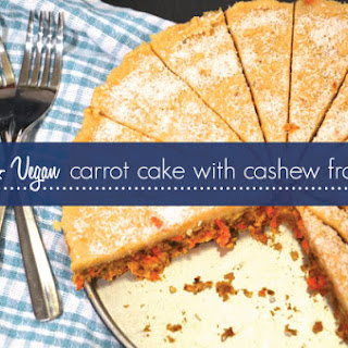 Raw & Vegan Carrot Cake with Cashew Frosting