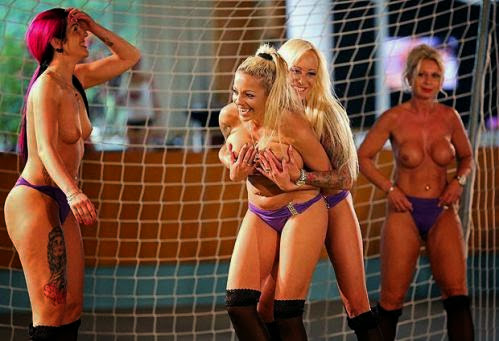 Female Footballers Play Naked
