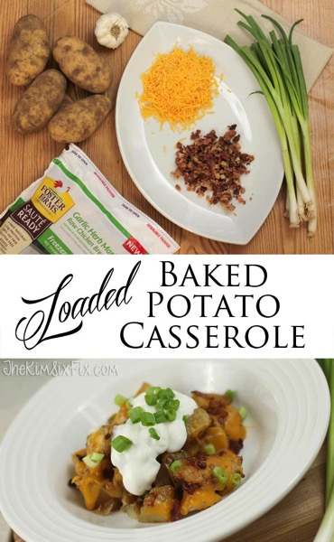 Loaded chicken and baked potato casserole