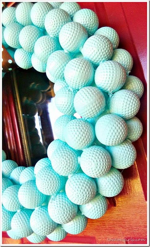 golf ball wreath2