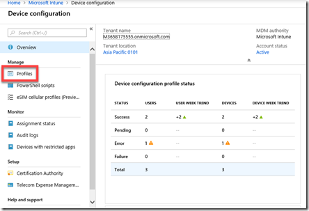 Setting up an iOS Intune device configuration policy – CIAOPS
