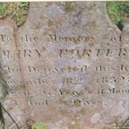 Mary Porter, died 1832; 1st wife of Andrew Porter