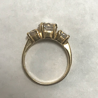 14K Gold and Three Stone Ring