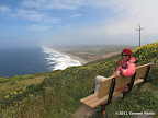 Bench offering great views of Point Reyes Beach