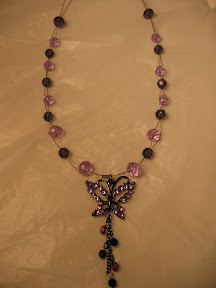 purple butterfly pendent $10.00