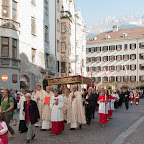 Fronleichnam - Prozession vom Dom zu St. Jakob zur Basilika Wilten - 4. Juni 2015