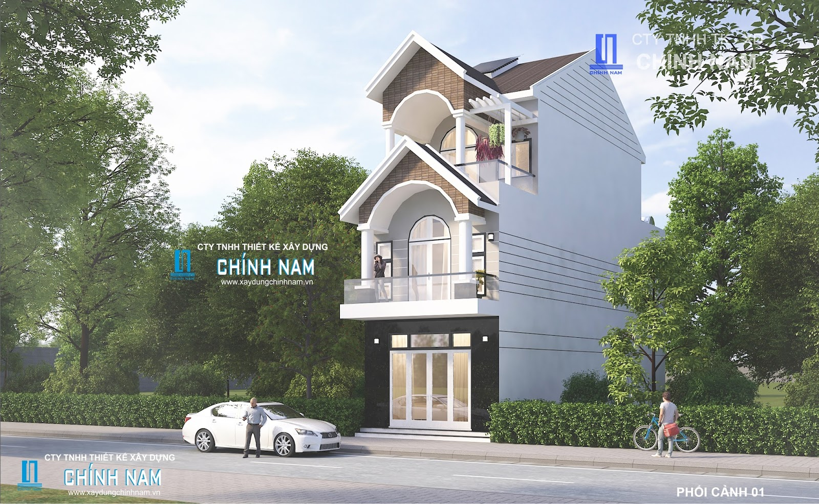 Thiết kế nhà chị Ngọc ở Biên Hoà