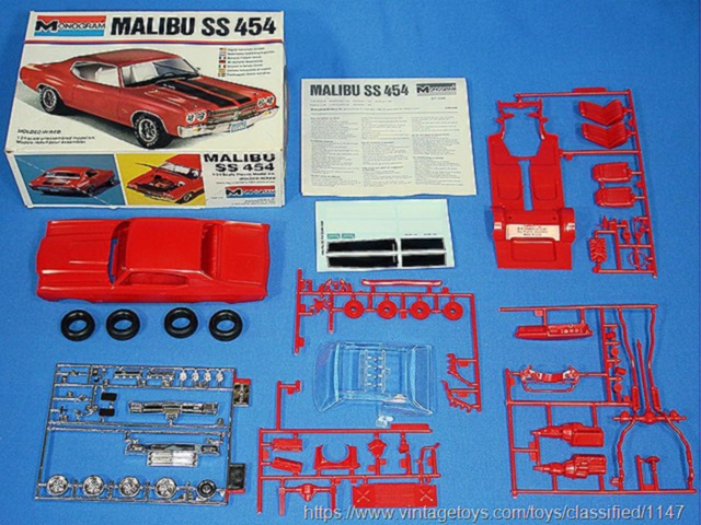 Chevy Malibu SS 454 Plastic Model Kit