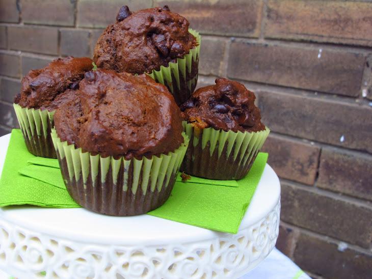 Chocolate Chocolate Chip Banana Muffins Recipe