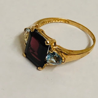10K Gold and Stone Ring