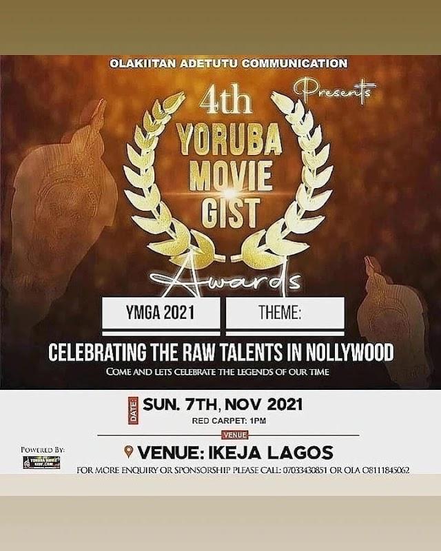 1st Batch of 2021 Yoruba Movie Gist Awards' Nomination List Is Finally Out ~Omonaijablog