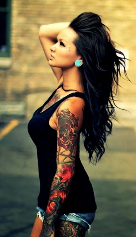 Tattoo Girl Wallpaper HD Iphone  Free Desk Wallpapers