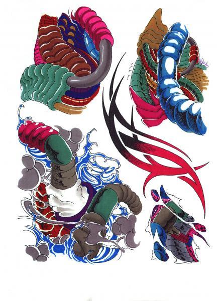 Magic Tattoo Design, Fantasy Tattoo Designs