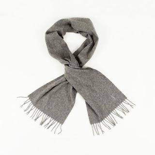Yves Saint Laurent Grey Cashmere Scarf