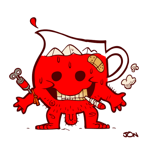 Pin kool aid man colouring pages on pinterest for Kool aid man coloring pages