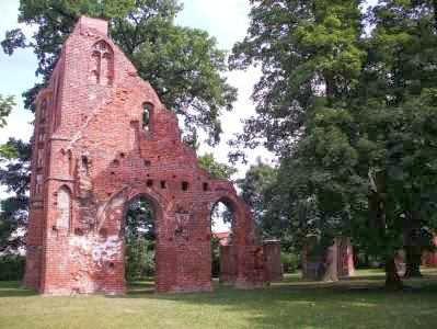 Ruinen des Zisterzienser-Klosters Eldena bei Greifswald, Mecklenburg-Vorpommern