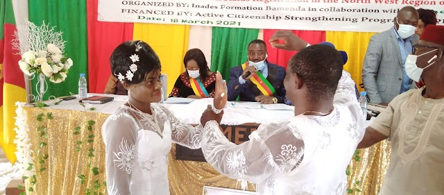 INADES Formation, Bamenda I Council seal marriages, supports PWDs