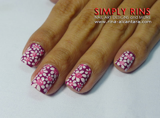 Flower Power Nail Art Design 01