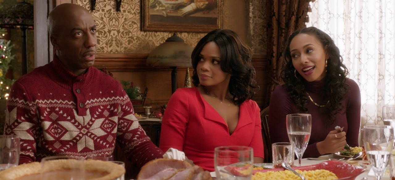 JB Smoove, Kimberly Elise and Keri Hilson in ALMOST CHRISTMAS. (Photo courtesy of Universal Pictures).