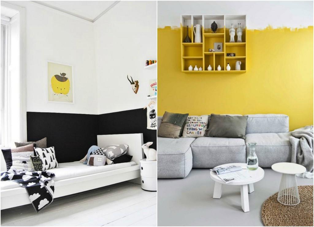 Design for love nuove tendenze dipingere le pareti a - Dipingere camera da letto due colori ...