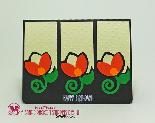 Tulips Sprigs Trio Card, SnapDragon Snippets, Ruthie Lopez