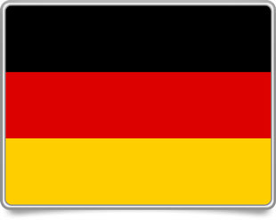 German framed flag icons with box shadow