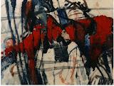 chemin de Fer rouge / 20x30 / papier t.mixte / 1999