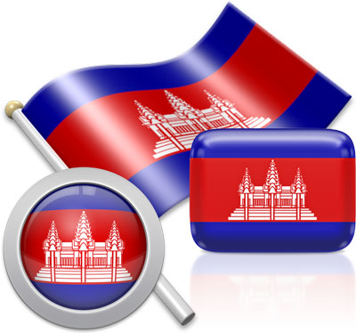 Cambodian flag icons pictures collection
