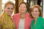 Event chairwoman Amanda Richard, speaker Gail McWilliams and board president Elizabeth Robinson.