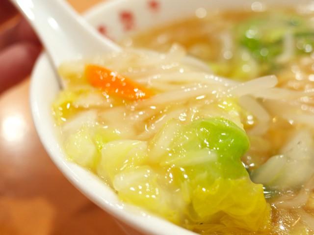 トロミで絡まった白菜などの野菜