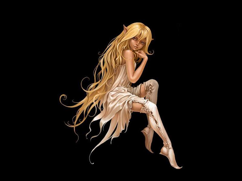 Elf Girl In White, Elven Girls